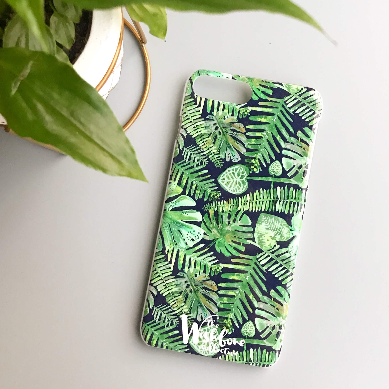 Botanical leaf phone case