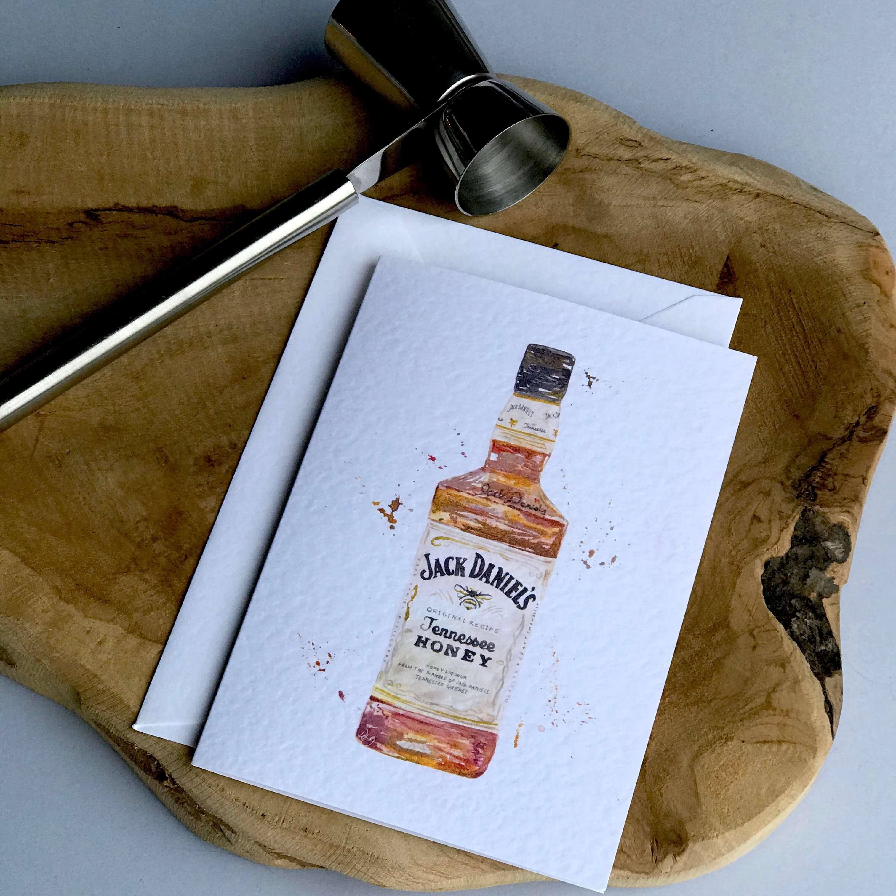 whisky honey card