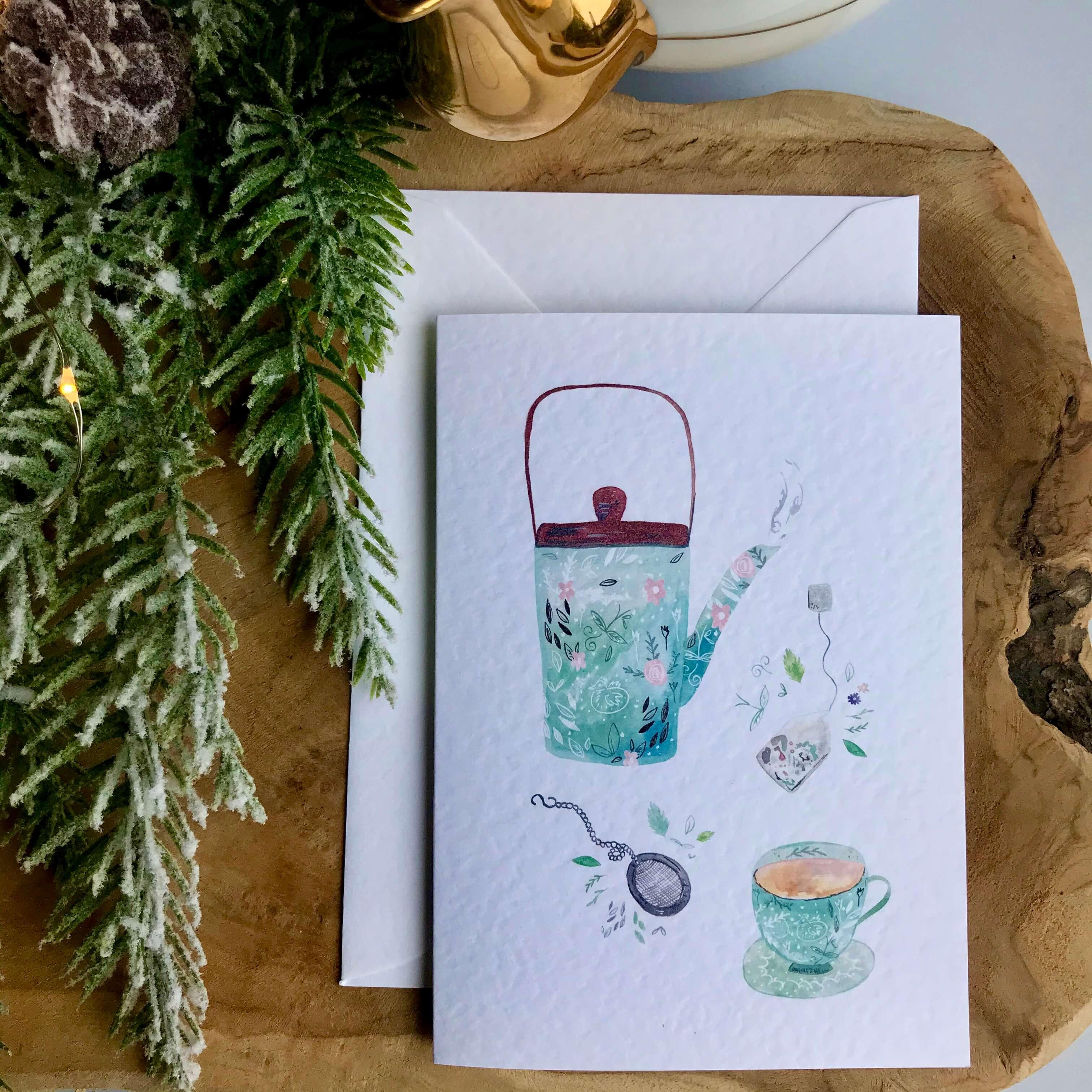 herbal tea card