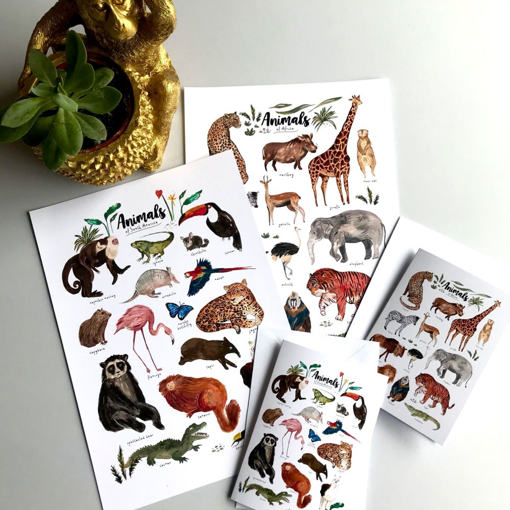 animals-of-south-america-card-art-print-africa