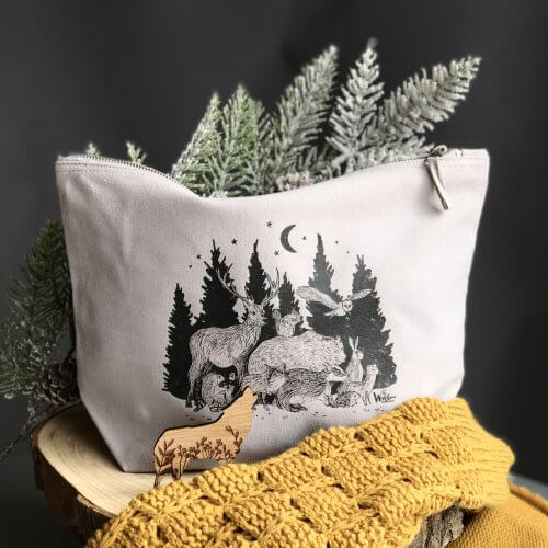 woodland cosmetic bag