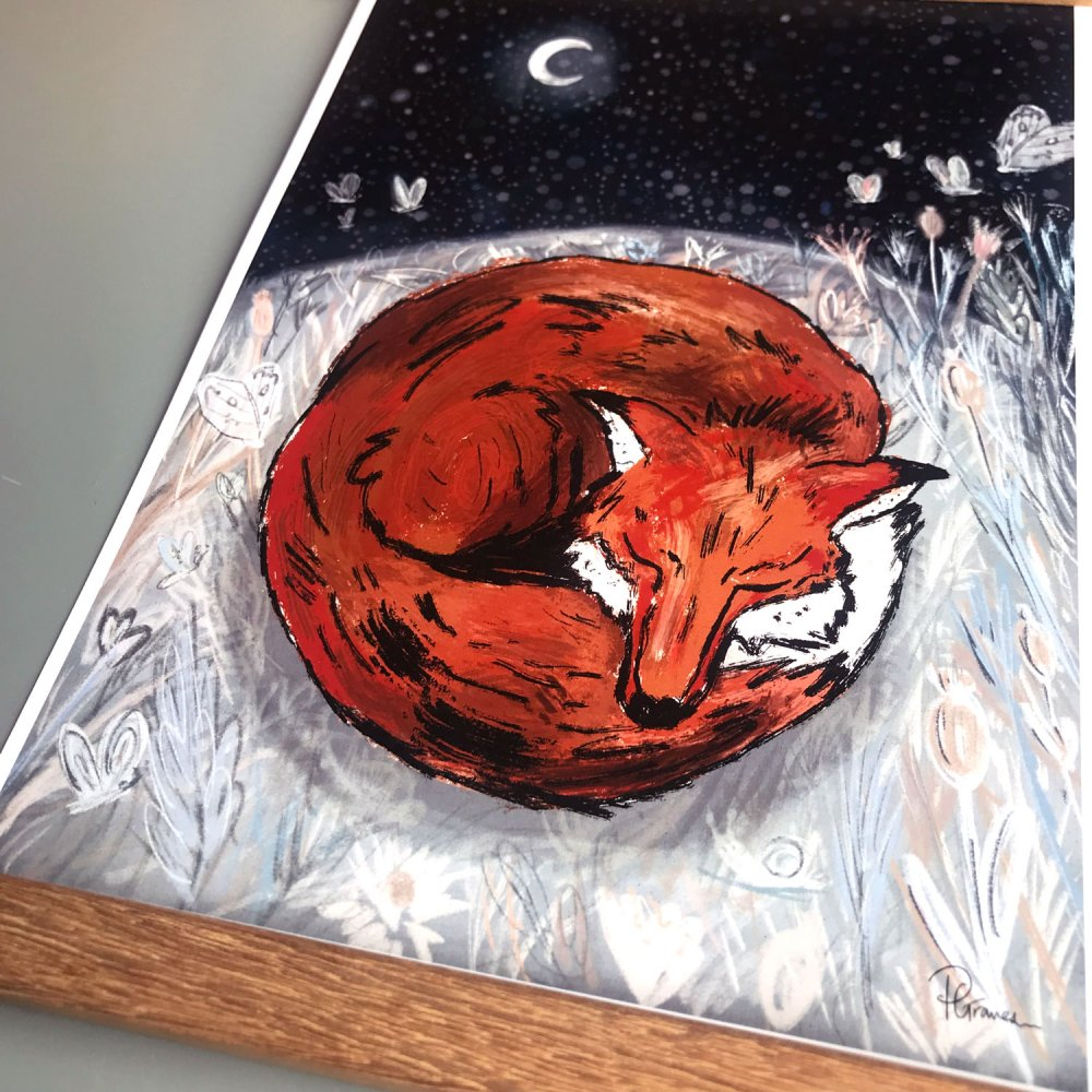 sleepy-fox-art-print-close-up