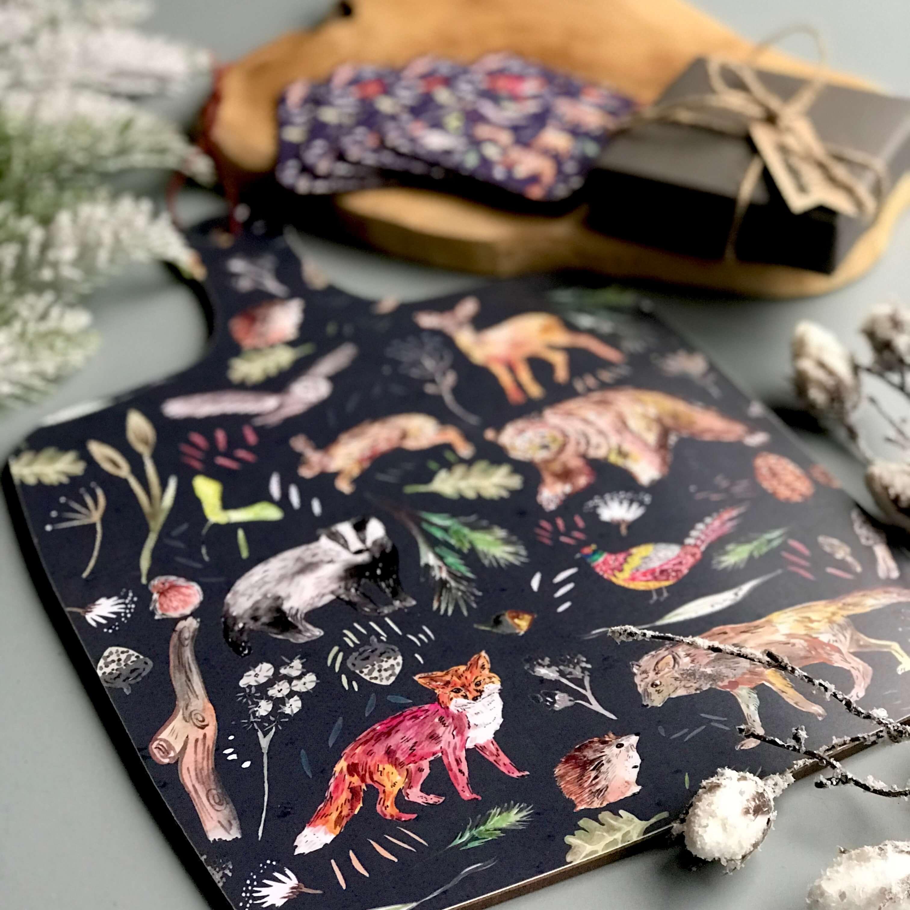 woodland animal board 1