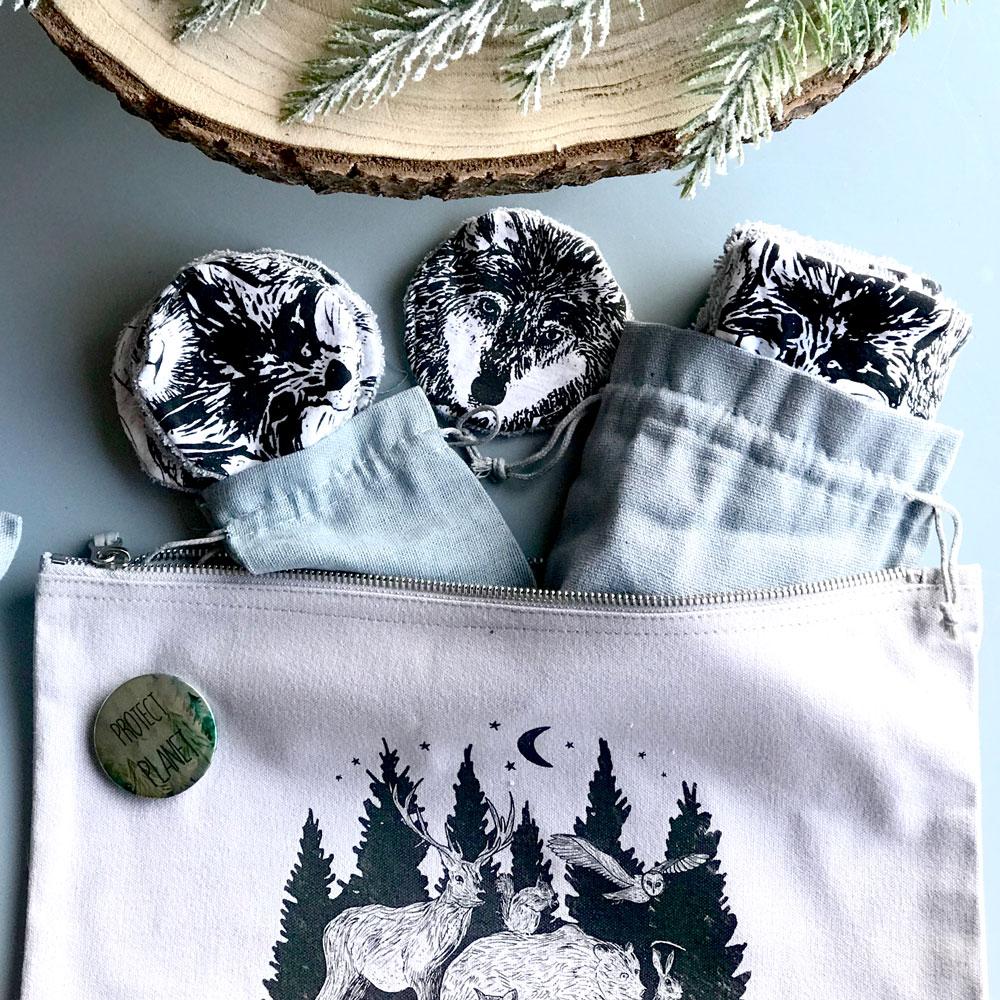 woodland-animal-eco-wipes-set-bag