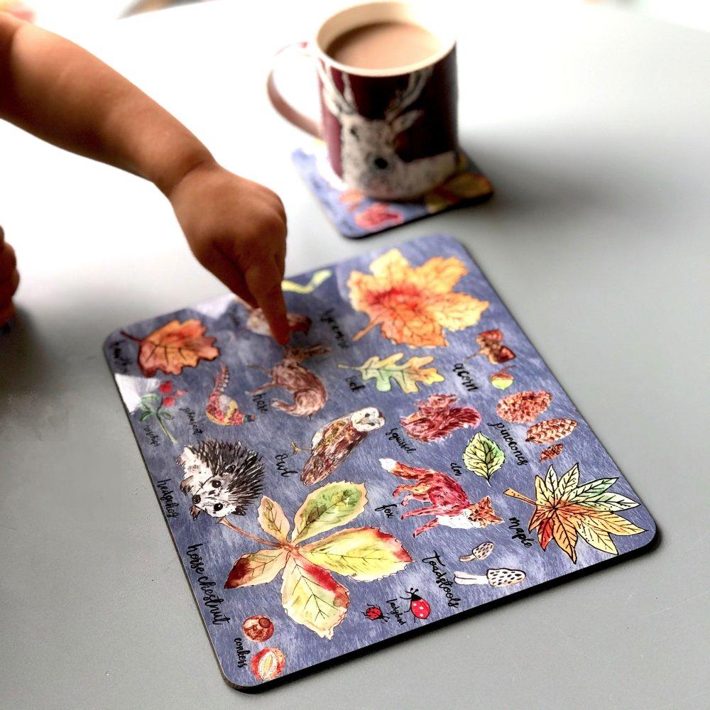 woodlandwalks-placemat-coaster-set