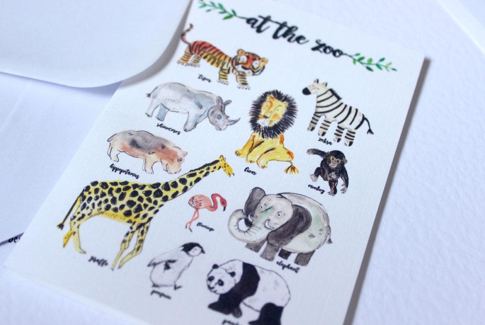 at-the-zoo-card