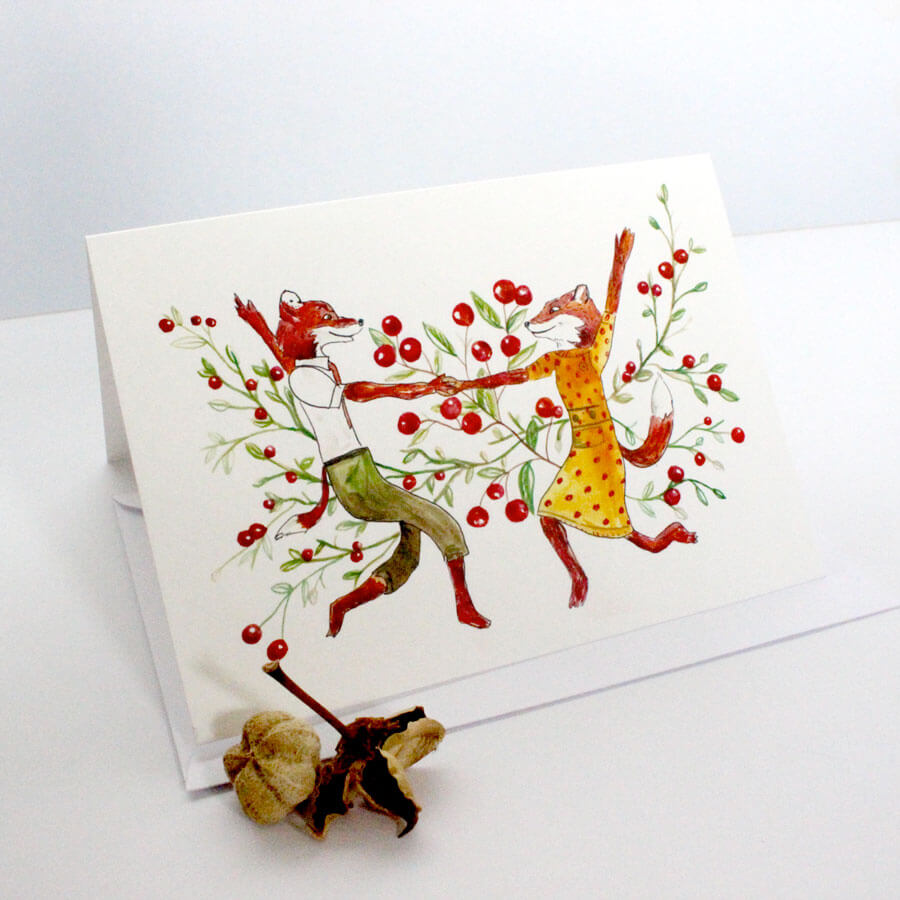 dancing-fox-card