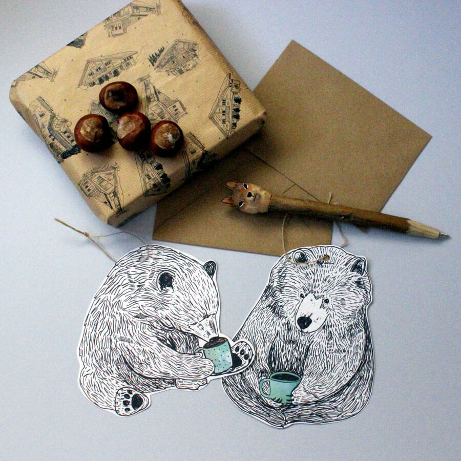Hanging Bear Greeting Cards The Wishbone Collective