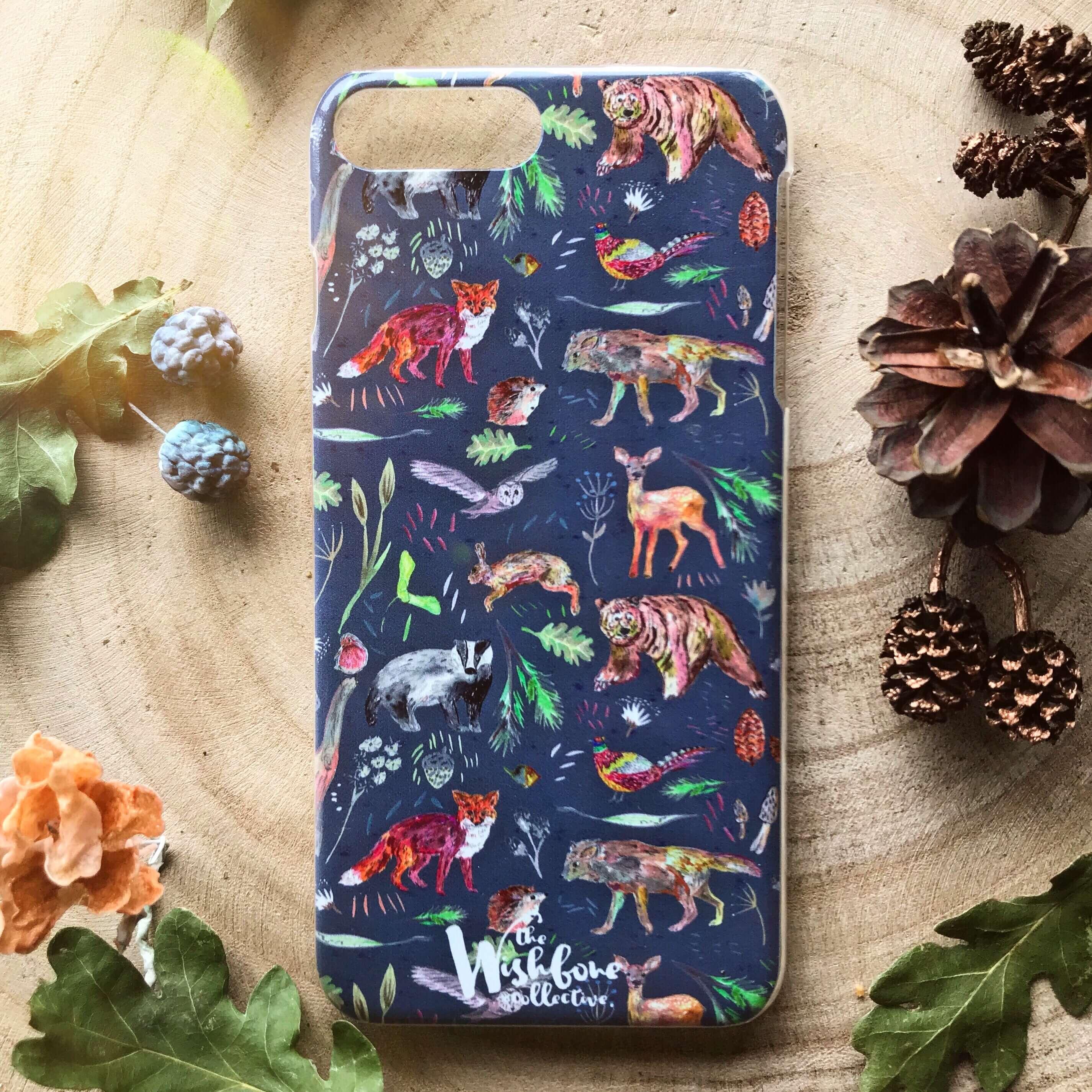 woodland animal phone case