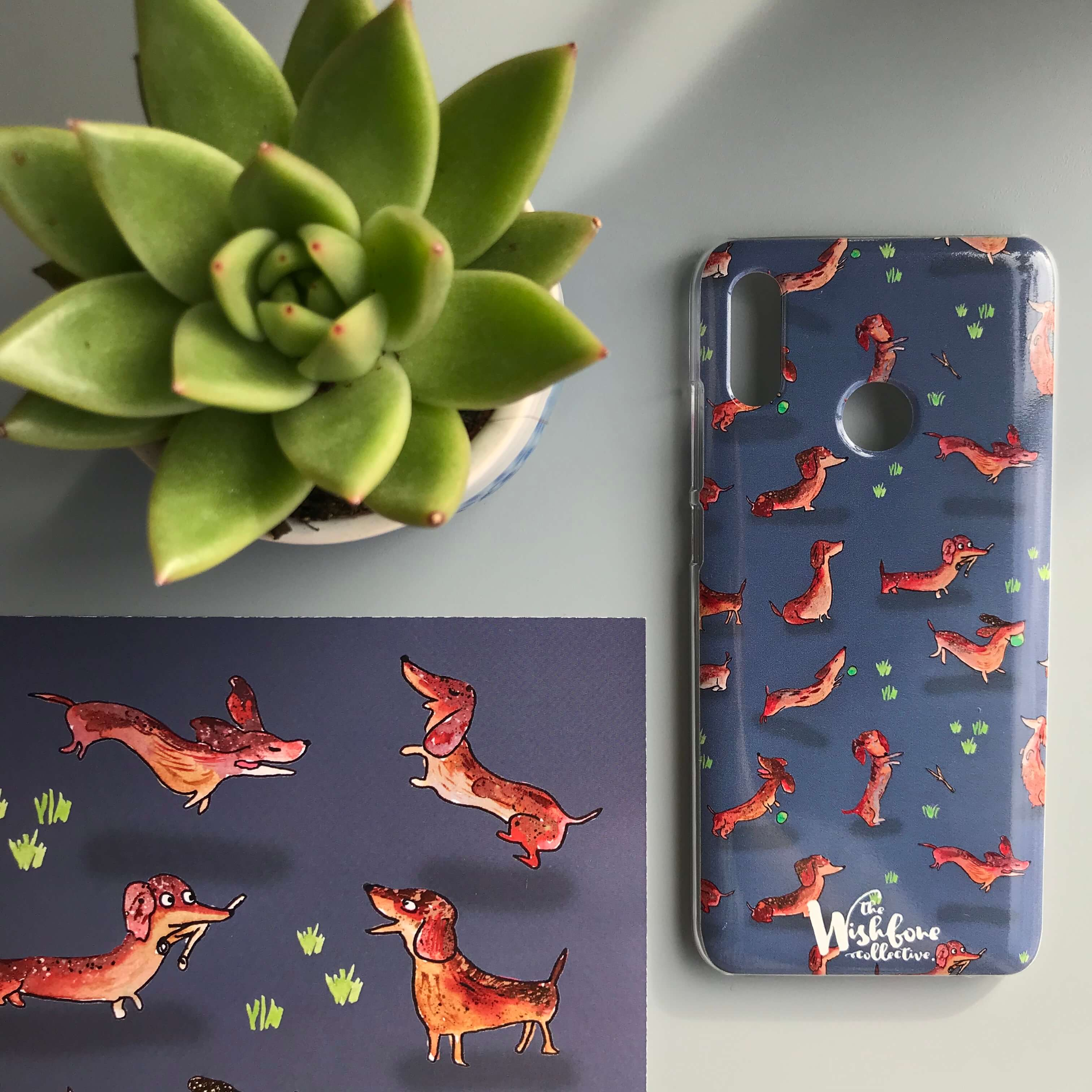 dachshund sausage dog phone case