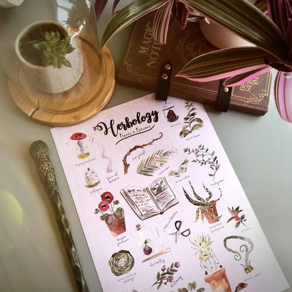 Herbology Art PRint 3