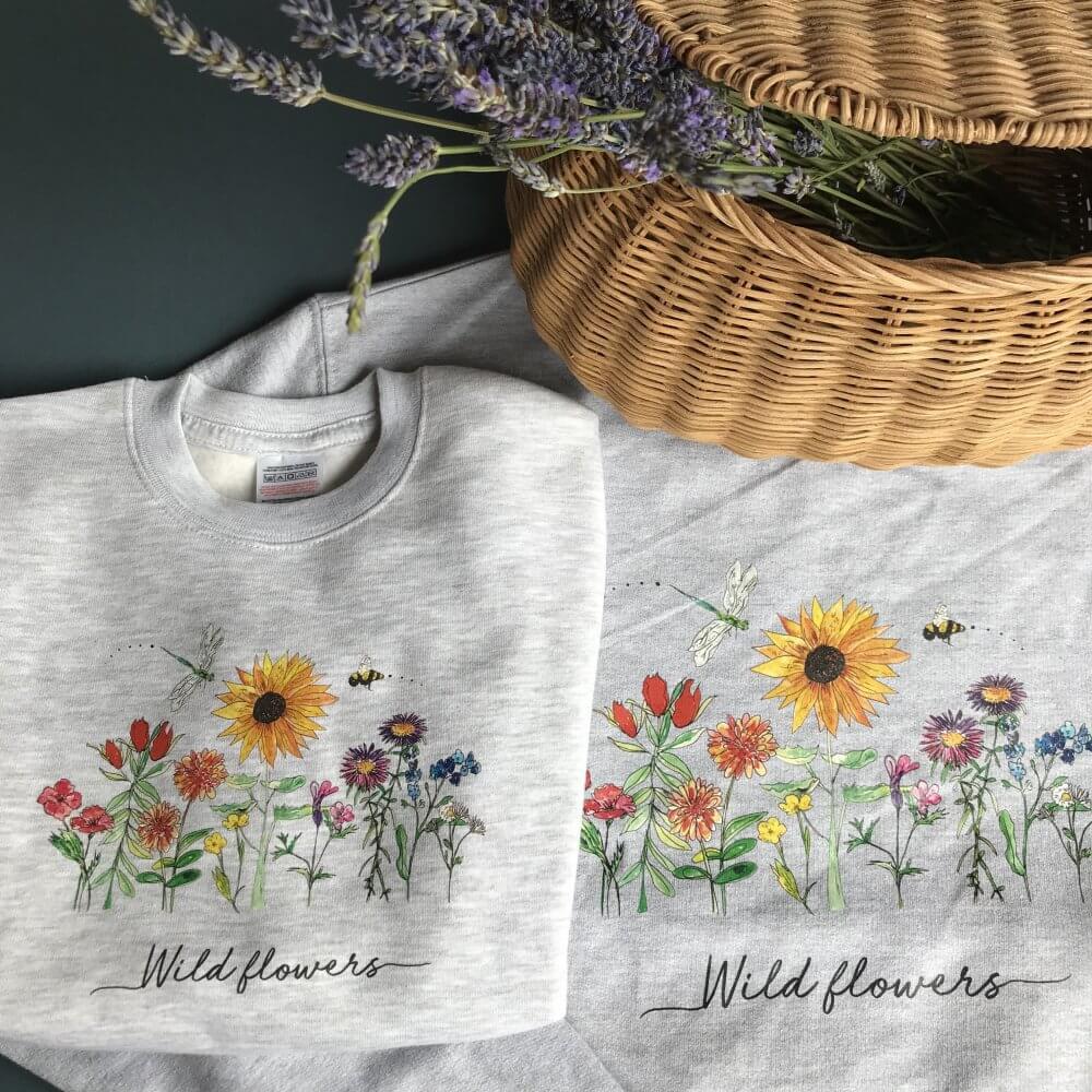 wild flower tshirts 10