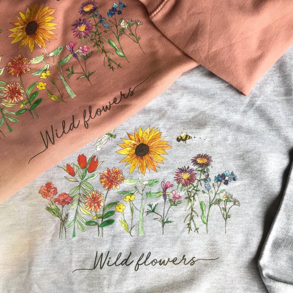 wild flower tshirts 40