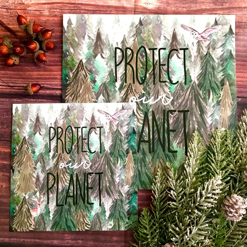 protect-our-planet-square-art-print