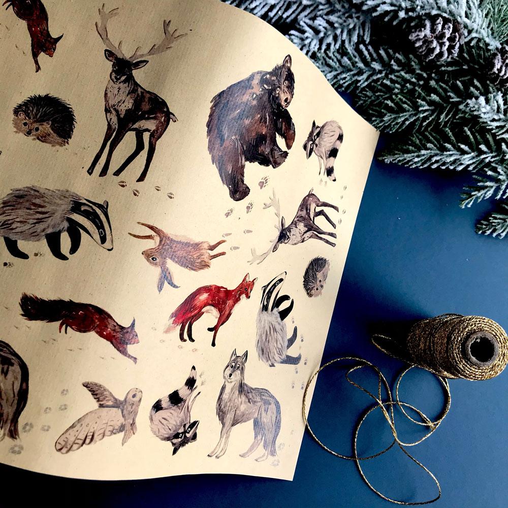 a3-kraft-woodland-animal-gift-wrap-5