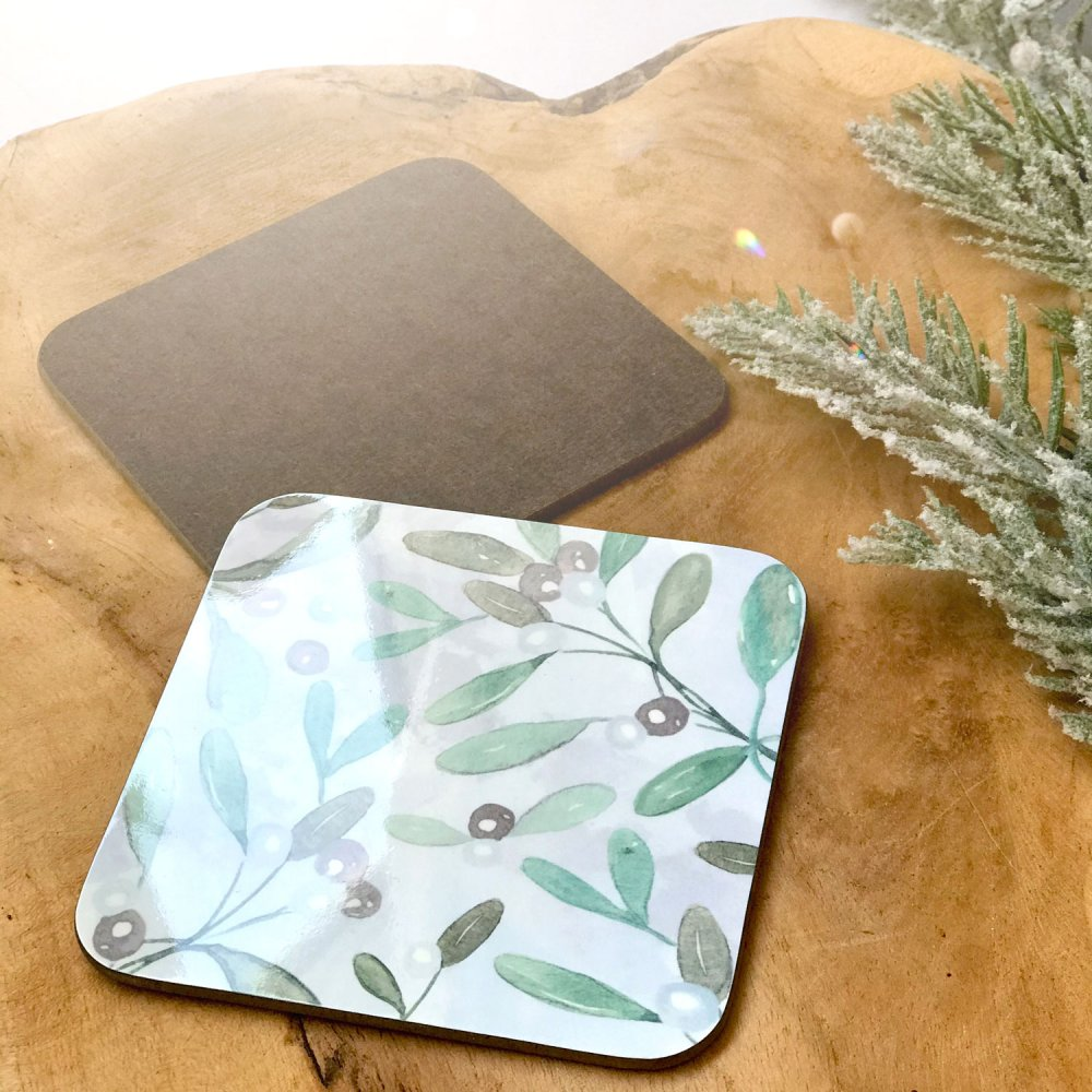 mistletoe-coasters