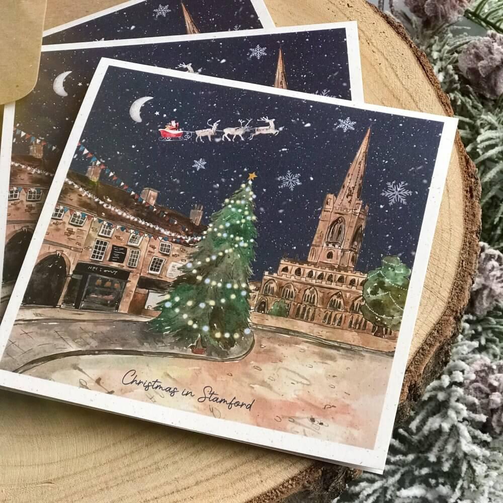 stamford tree town christmas card 1