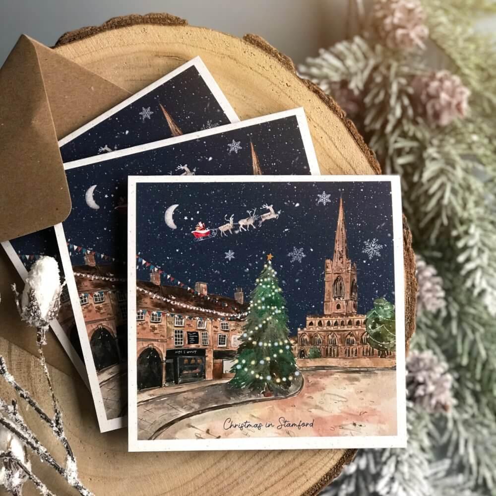 stamford tree town christmas card