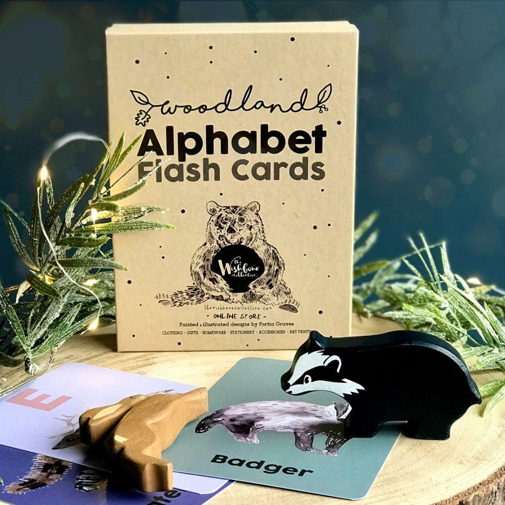 woodland-alphabet-animal-flash-cards