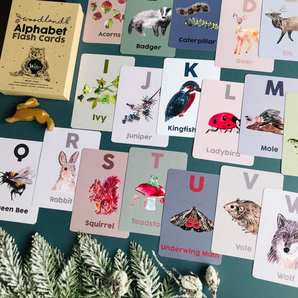 woodland-alphabet-flash-cards-1