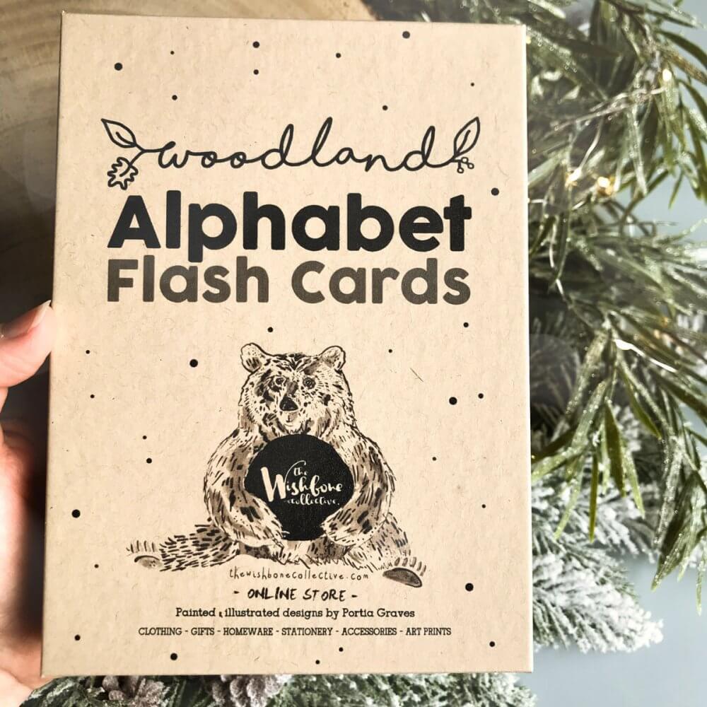 woodland-alphabet-flash-cards-box
