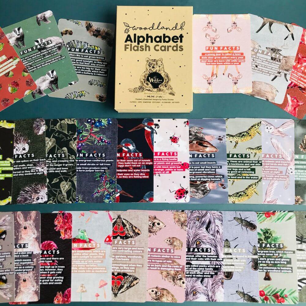 woodland-flash-cards
